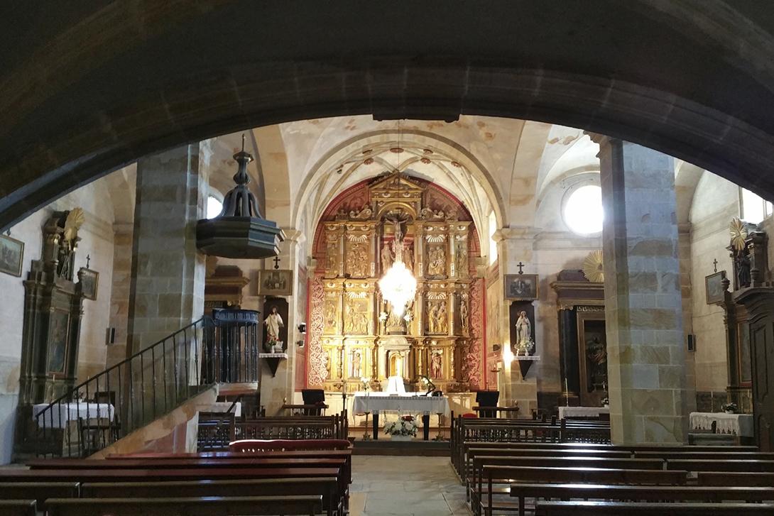 Itsasoko San Bartolome elizako barrualdea (Miguel de Salezan)