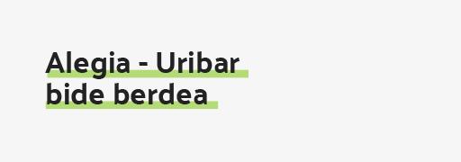 Alegia - Uribar bide berdea