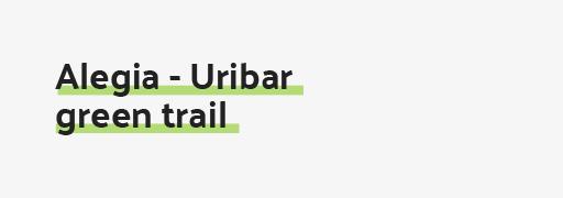 Alegia - Uribar green trail