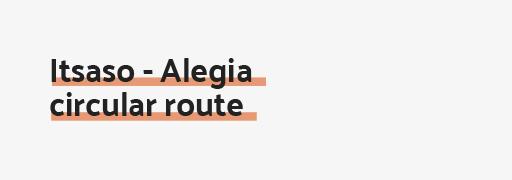 Itsaso - Alegia circular route