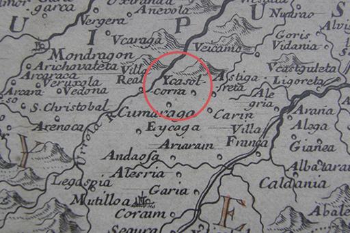 Ycasolcorra - La Biscaye - Divesée en ses 4 principales parties et la Navarre en ses Merindades - 1707