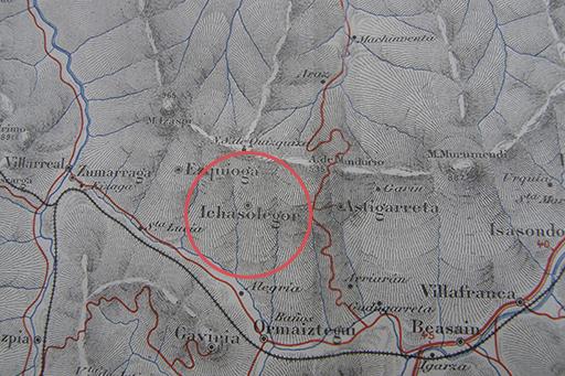 Ichasolegor - Indicador de carreteras y carta topográfica - Provincia de Guipuzcoa - 1908